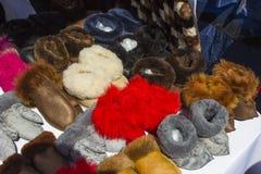 Pantoufles de fourrure Photos stock