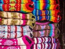 Pantoufles de laine de yaks à vendre, Népal Image libre de droits