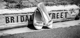 Pantoufles de mariage Image stock