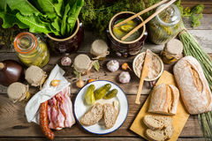 Pantry full of flavor for winter Royalty Free Stock Image
