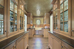 Pantry in luxury home royalty free stock image