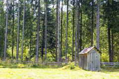 Pantry near the forest Royalty Free Stock Photos