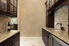 Pantry with refrigerator stock photos
