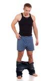 Pants Down Royalty Free Stock Photo