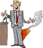 Pants on fire saying cartoon Royalty Free Stock Photo