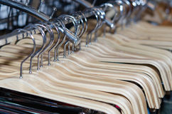 Pants hangers Stock Photography