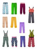 Pants for little girls Royalty Free Stock Image