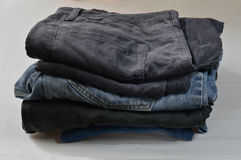 Pants. The new strip wash jeans and cotton trousers Trousers Royalty Free Stock Images