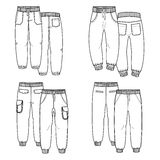 Pants. Outline Stock Images