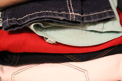 Pants Pile Royalty Free Stock Image