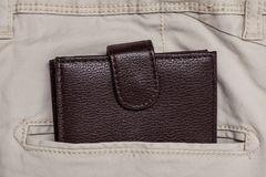 Pants pocket and wallet. For your design Stock Photo