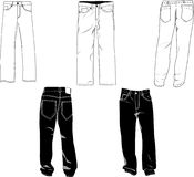 Pants template Stock Photography