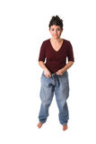 Pants are too big Royalty Free Stock Images