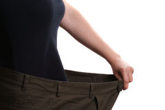 Pants that is too large after weight loss Royalty Free Stock Photo