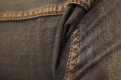 Jeans Zoom royalty free stock image