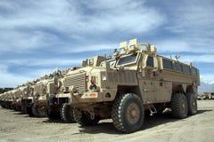 Pantserwagens Klaar voor Kwestie in Afghanistan royalty-vrije stock fotografie
