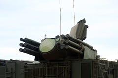Pantsir-C1-Russian samojezdny antiaircraft pocisk i pistoletu system opierać się gruntowy i denny Fotografia Royalty Free