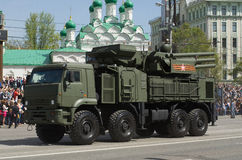 Pantsir-S1 è un missile terra-aria e un'arma contraerea Fotografie Stock Libere da Diritti