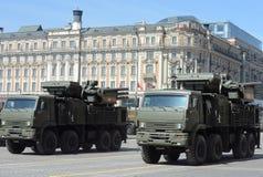 pantsir-S1 łączącym skrótem jest środek - pasma ziemia-powietrze pocisk i przeciwlotniczej artylerii system broni Zdjęcia Stock