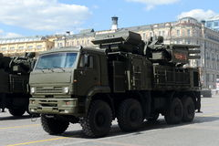 Pantsir-S  is a combined short to medium range surface-to-air missile and anti-aircraft artillery weapon syste Stock Images