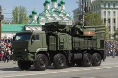 Pantsir-S1 is een grond-lucht raket en een luchtafweerwapen Royalty-vrije Stock Foto's