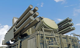 Pantsir-S1 missile and anti-aircraft weapon system Stock Images
