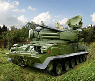 The Pantsir-S1. SA-22 Greyhound, a combined surface-to-air missile and anti-aircraft artillery weapon system Stock Photography