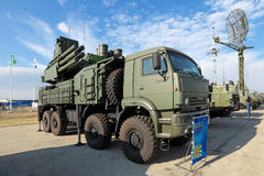 Pantsir-S1 (lévier de nom SA-22 d'enregistrement de l'OTAN) Photos stock