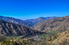 Pantwari Village, Uttarakhand, India. Pantwari village of uttarakhand and surrounding mountains Stock Photo
