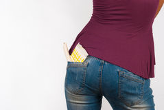 Panty liner and tampon Stock Images