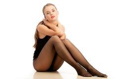 Pantyhose da portare della donna Fotografia Stock