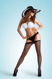 Pantyhose off. Stock Image