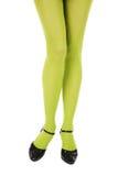 Pantyhose verde Fotografie Stock Libere da Diritti