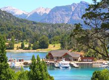 Порт Panuelo - Bariloche - Аргентина Стоковая Фотография
