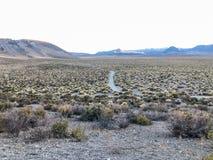 Panum krateru śladu drogi widok obrazy stock