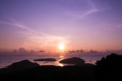 Panwa-Sonnenaufgang lizenzfreies stockfoto