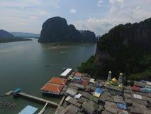 Panyee海岛是一渔村在攀牙府,泰国 免版税图库摄影