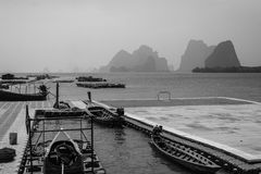 PANYEE ISLAND,floating football field in the Koh Panyee fisherman village, Thailand Stock Photos