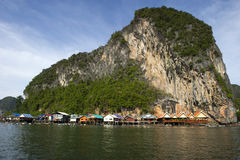 Panyee Island in Phang Nga Province, Thailand Royalty Free Stock Photo