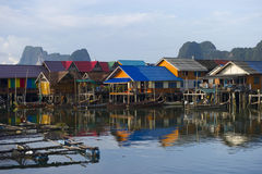 Panyee Island in Phang Nga Province, Thailand Royalty Free Stock Photography