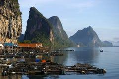 Panyee Island in Phang Nga Province, Thailand Royalty Free Stock Images