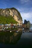 Panyee Island in Phang Nga Province, Thailand Royalty Free Stock Photography