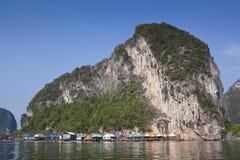 Panyi ö, Phang-nga, Thailand Fotografering för Bildbyråer