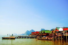 Panyi island at south of Thailand Stock Images