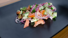 Panzanella salat 免版税图库摄影