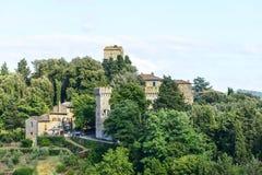 Panzano, Chianti. Panzano (Florence, Tuscany, Italy), historic village in Chianti, at summer royalty free stock photos