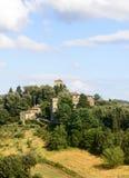Panzano, CHianti. Panzano (Florence, Tuscany, Italy), historic village in Chianti, at summer royalty free stock image