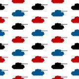 Panzer标志无缝的样式 免版税库存图片