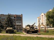 Panzer auf dem Spielplatz Lizenzfreies Stockbild