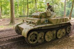 Panzer II Ausf. L `Luchs` at Militracks event Stock Images